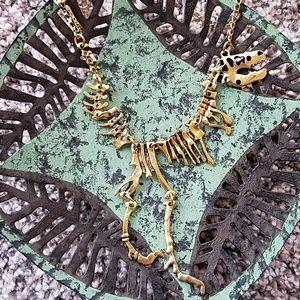 TRex goldtone necklace
